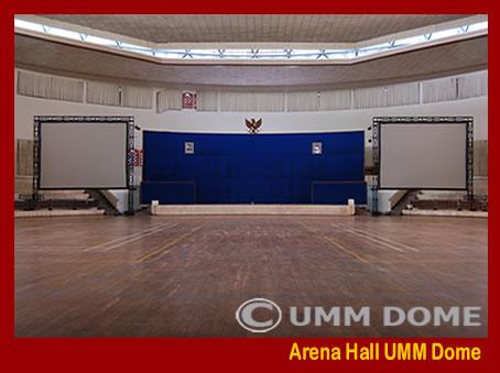 Arena Hall UMM Dome kapasitas 6.000 Orang