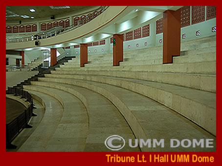 Tribune lantai I Hall UMM Dome kapasitas 2.000 Orang