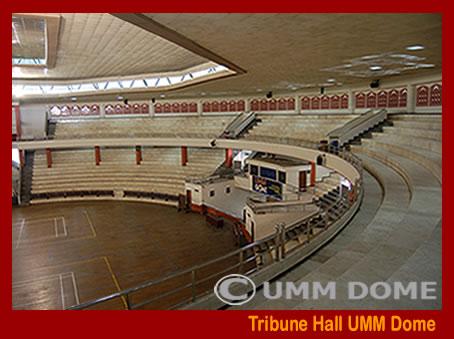 Tribune Hall UMM Dome total kapasitas 3.000 Orang